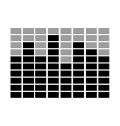 Black and grey squares scale graphic vector