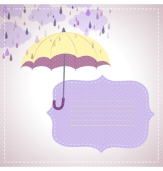 background for messages with a yellow umbrella vector image