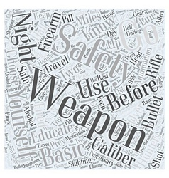 Basic firearm safety for hunters word cloud vector