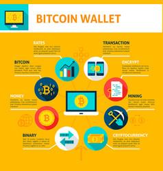 bitcoin wallet infographics vector image vector image