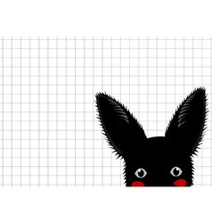 Black Rabbit Grid Background vector image