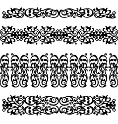 black silhouette pattern ornament vector image vector image