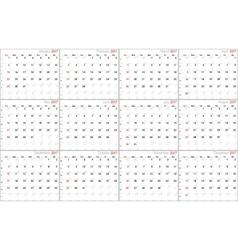 Calendar for 2017 vector