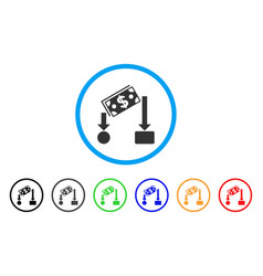 Cash flow rounded icon vector