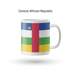 Central african republic flag souvenir mug on vector
