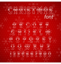 Christmas glass alphabet vector