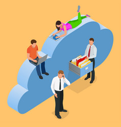 cloud data storage vector image vector image