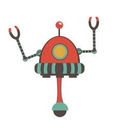 Colorful robot character vector image vector image