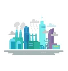 Environmental pollution Factories smoke vector image vector image