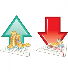 graph finance vector image vector image