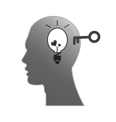Head brain vector image vector image