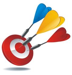 icon target darts vector image vector image