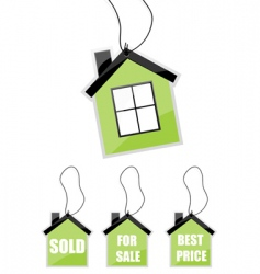 illustration of tag of house vector image vector image