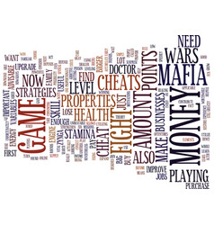 Learn some strategies in mafia wars text vector