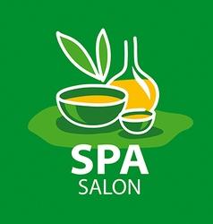 Logo attributes for spa salon vector