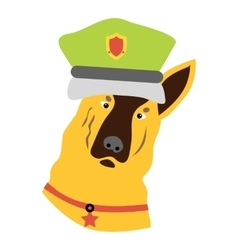 Police dog icon flat style vector