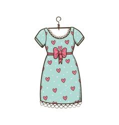 Pretty dress vector