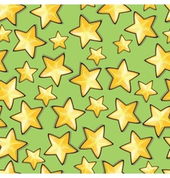 Seamless pattern with cartoon stars vector image vector image