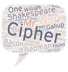 Shakespeare cipher stories part 1 text background vector