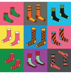 Socks seamless funny wallpaper vector