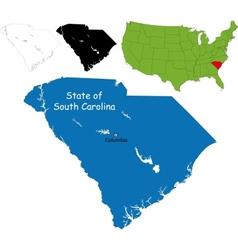 South carolina map vector