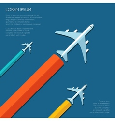 travel flat design flyer template vector image vector image