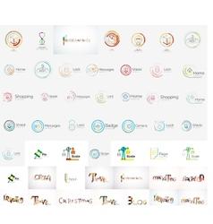 universal mega set of company logos vector image