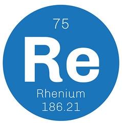 Rhenium chemical element vector
