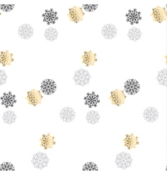 Elegant fancy light snowflake motif flake of snow vector