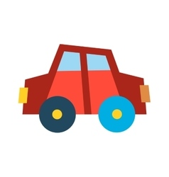 Car vechicle flat transport vector image
