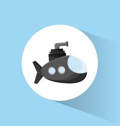 Submarine periscope underwater icon vector