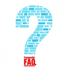 faq metaphor vector image