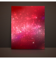 Scarlet red sparkling background with glowing vector