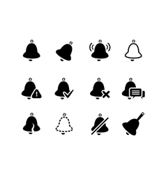 Bell icons set vector