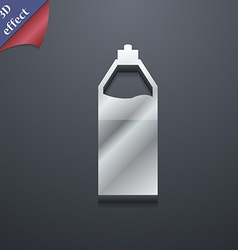 Plastic bottle with drink icon symbol 3d style vector