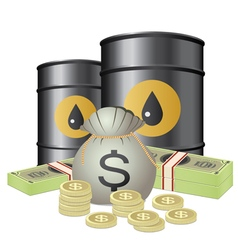 Oil and cash vector
