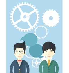 Asian business people vector