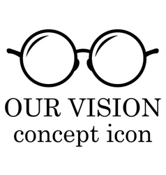 Our vision icon vector