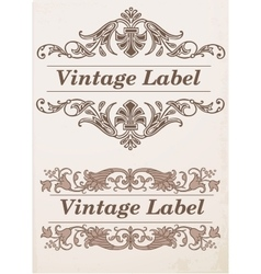 Ornate frames and labels elements vector