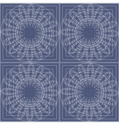 Pattern with circles on the blue backdrop vector