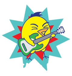 Rock and roll bird vector