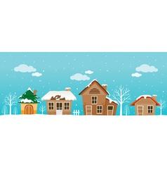 Houses panorama vector