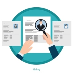Recruitment and resume picking concept vector