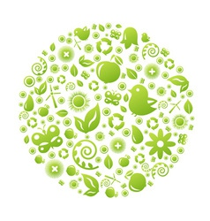 Various Ecology Icons vector image