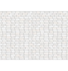 Elegant realistic trendy white brick wall vector