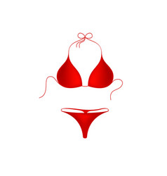Bikini suit in red design vector