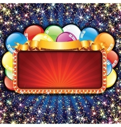 Bright Billboard with Balloons vector image