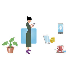 Business woman office worker employee manager vector