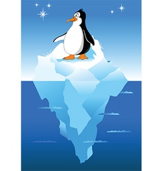 Cartoon penguins vector image