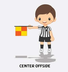 center offside flag signals vector image vector image